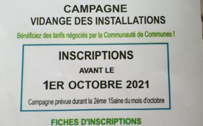 campagne vidange des installations